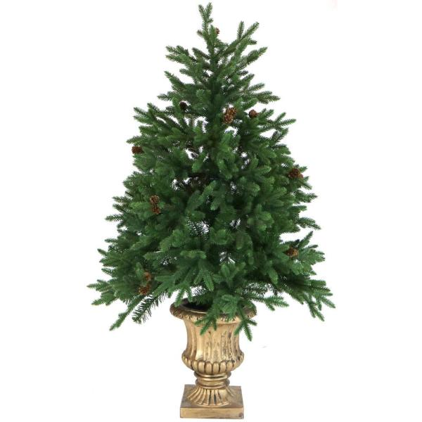Ge 7.5 Ft. Pre-lit Led Indoor Cut Deluxe Aspen Fir Artificial Christmas Tree With Color