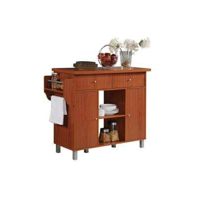 cherry kitchen island storage jars islands carts utility tables the with spice rack and towel holder