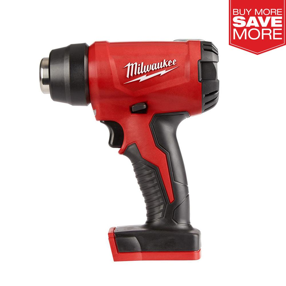 Milwaukee M18 18-Volt Lithium-Ion Cordless Compact Heat Gun (Tool-Only)-2688-20 - The Home Depot
