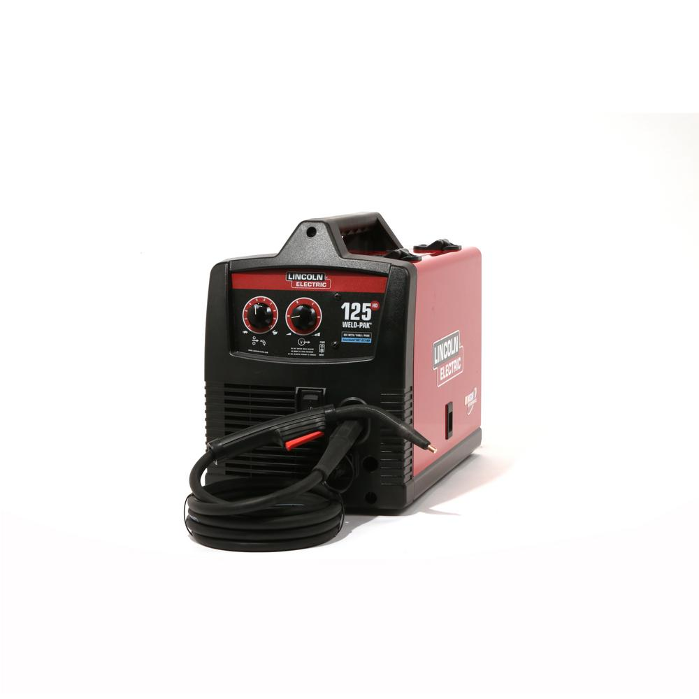 hight resolution of 125 amp weld pak 125 hd flux cored welder with magnum 100l gun flux cored wire 115v