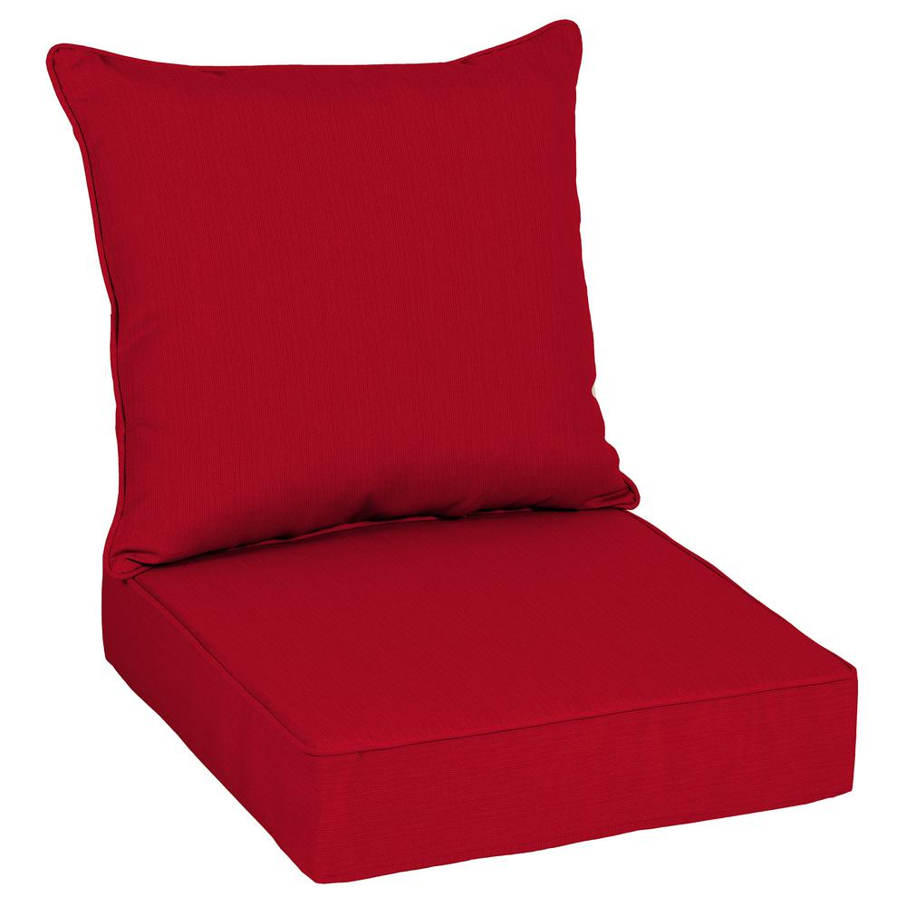 beach chair pillow with strap plastic folding lounge home decorators collection 24 x sunbrella spectrum cherry deep seating outdoor cushion