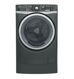 ge 4 9 cu ft high efficiency diamond gray front loading washing machine with [ 1000 x 1000 Pixel ]