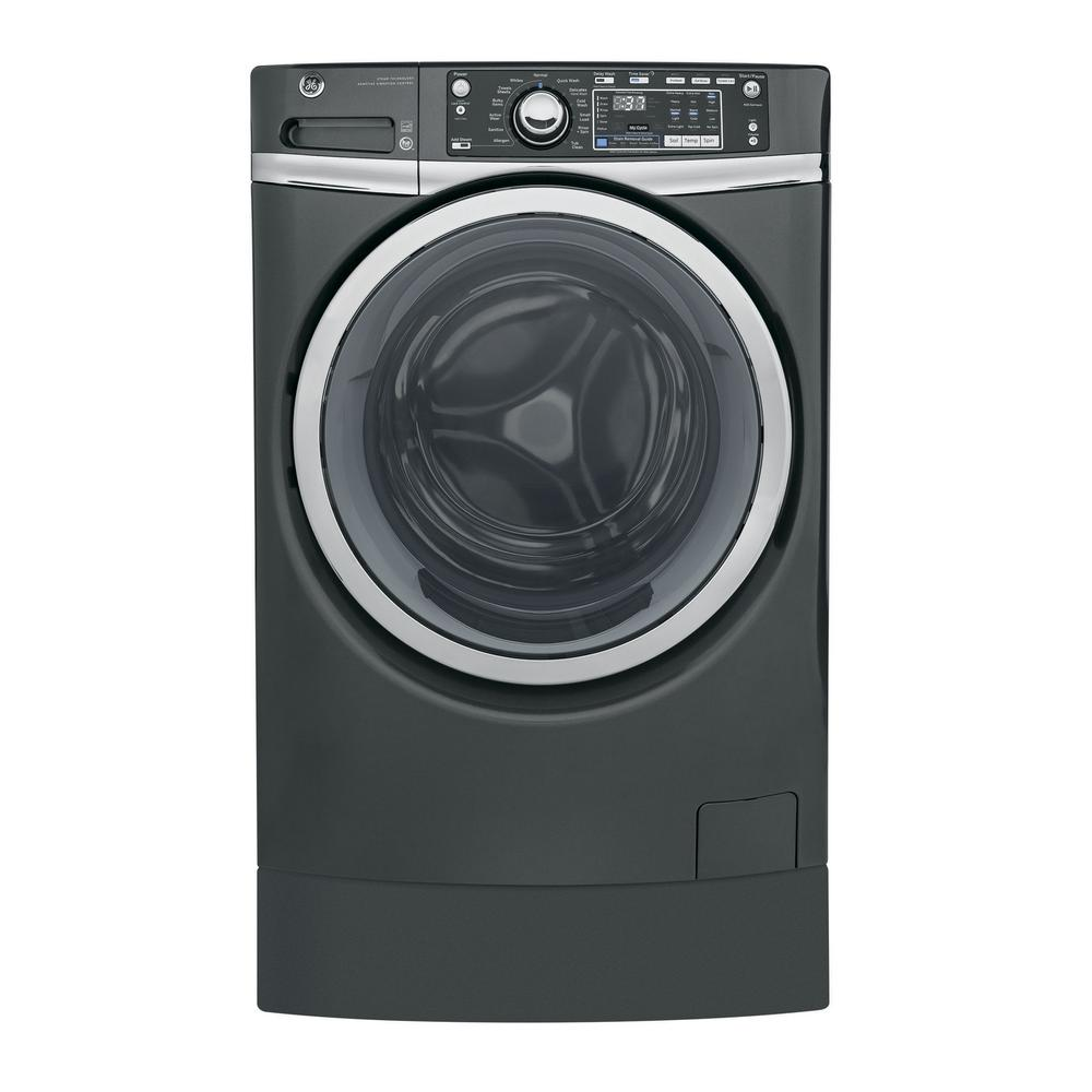 medium resolution of ge 4 9 cu ft high efficiency diamond gray front loading washing machine with