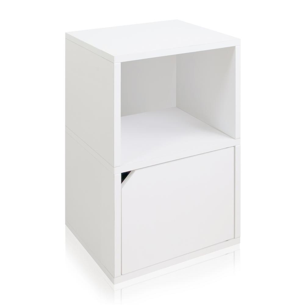 Way Basics Eco zBoard White Tool Free Assembly Under Desk