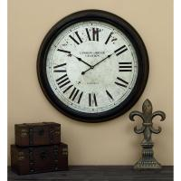 24 in. Metal Wall Clock-52102 - The Home Depot
