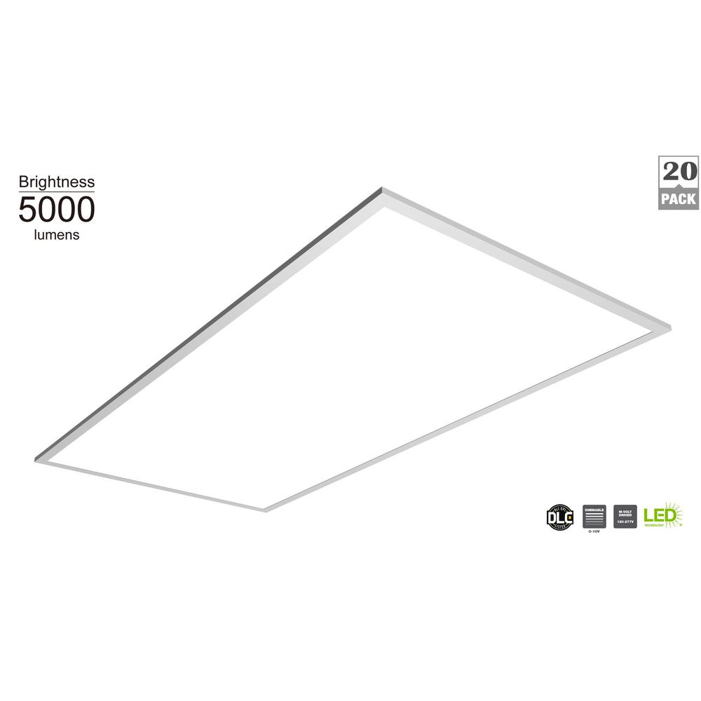 Commercial Electric 5000 Lumen 2 ft. x 4 ft. White