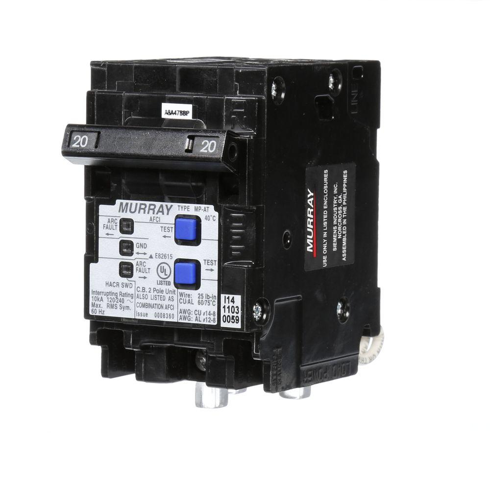 medium resolution of murray 20 amp double pole type mp at combination afci circuit breaker