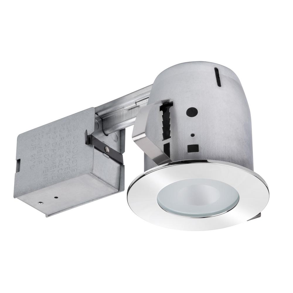 medium resolution of bathroom chrome recessed lighting kit with clear glass spot light
