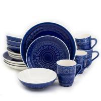 Cobalt Blue Dinnerware Set 16-Piece Dinner Salad Plates ...