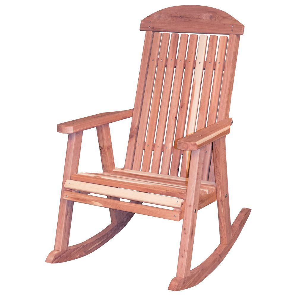 Amish Rocking Chair Amerihome Amish Made Unfinished Patio Rocking Chair