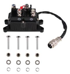 universal replacement contactor relay for 2000 3600 lbs atv winches [ 1000 x 1000 Pixel ]