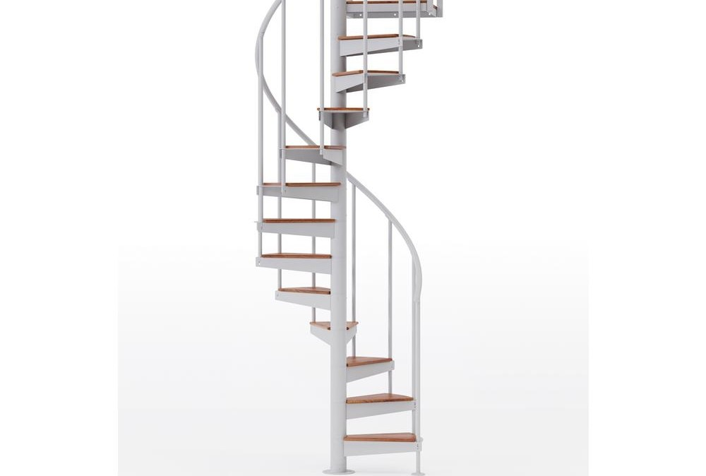 Mylen Stairs Condor White Interior 42 Diameter 12 Treads With 2 | Outdoor Spiral Staircase Home Depot | Reroute Galvanized | Handrail | Arke Nice1 | Arke Enduro | Galvanized Exterior