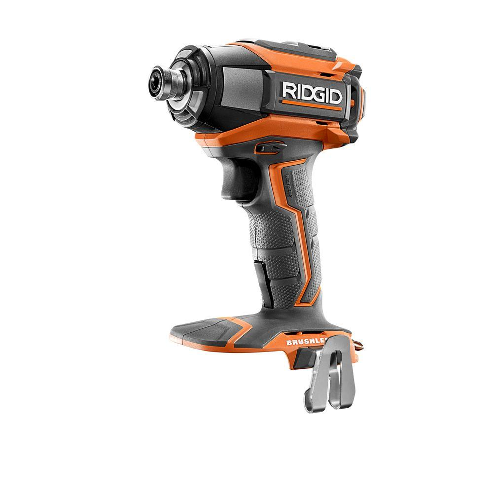 hight resolution of ridgid 18 volt gen5x lithium ion brushless cordless 1 4 in impact driver with belt clip tool only r86037n the home depot