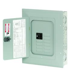 eaton br 100 amp 8 space 16 circuit indoor main breaker loadcenter with cover [ 1000 x 1000 Pixel ]