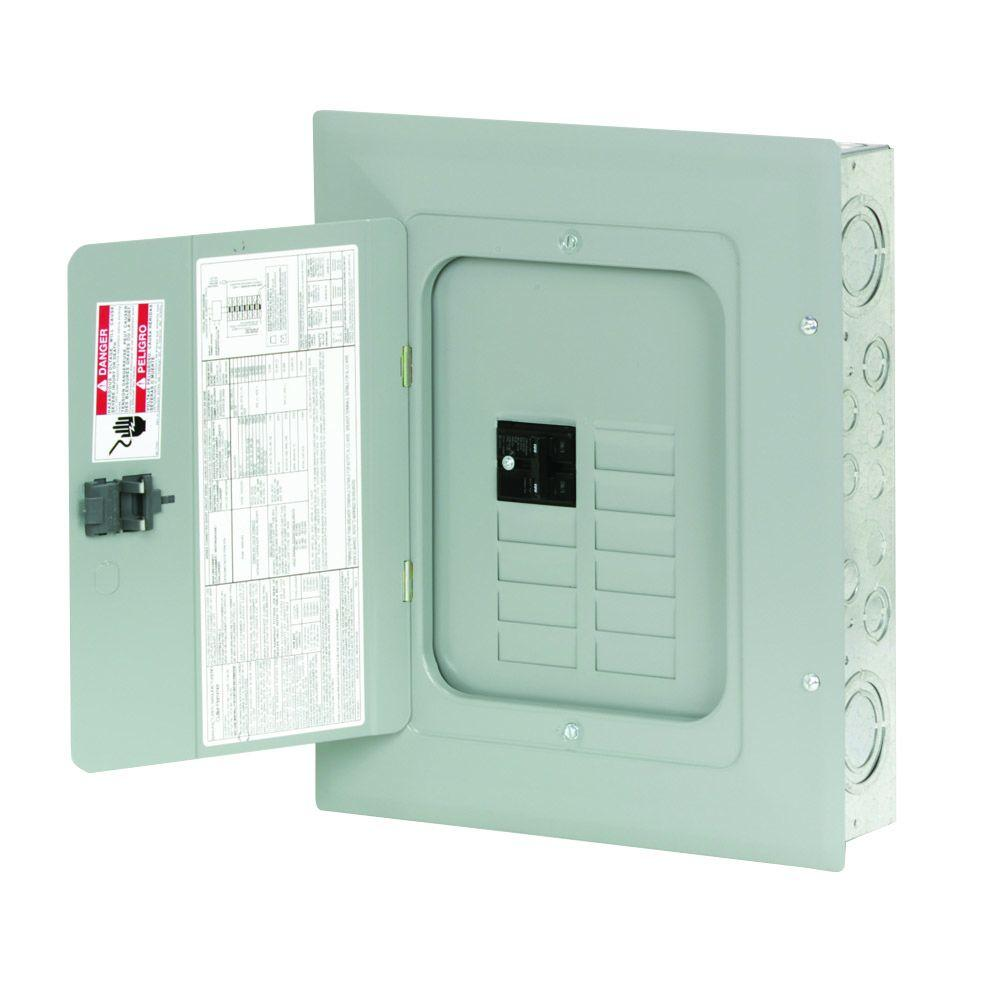 hight resolution of eaton br 100 amp 8 space 16 circuit indoor main breaker loadcenter with cover