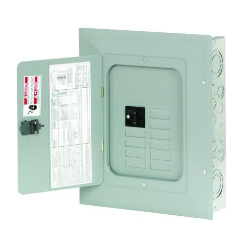 small resolution of eaton br 100 amp 8 space 16 circuit indoor main breaker loadcenter with cover