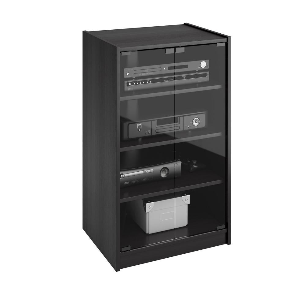 media chest for living room grey blue orange modern storage furniture the home depot cranley ravenwood black component stand