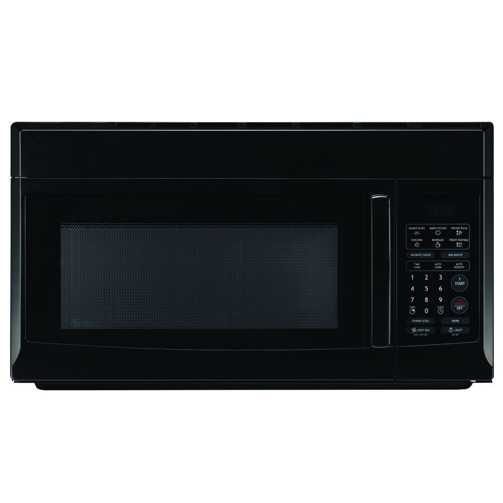 hight resolution of magic chef 1 6 cu ft over the range microwave in black