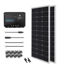 renogy 200 watt 12 volt monocrystalline solar starter kit for off grid solar [ 1000 x 1000 Pixel ]