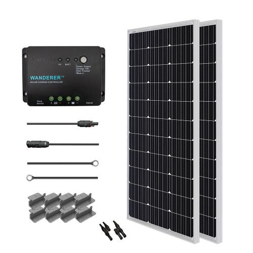 small resolution of renogy 200 watt 12 volt monocrystalline solar starter kit for off grid solar