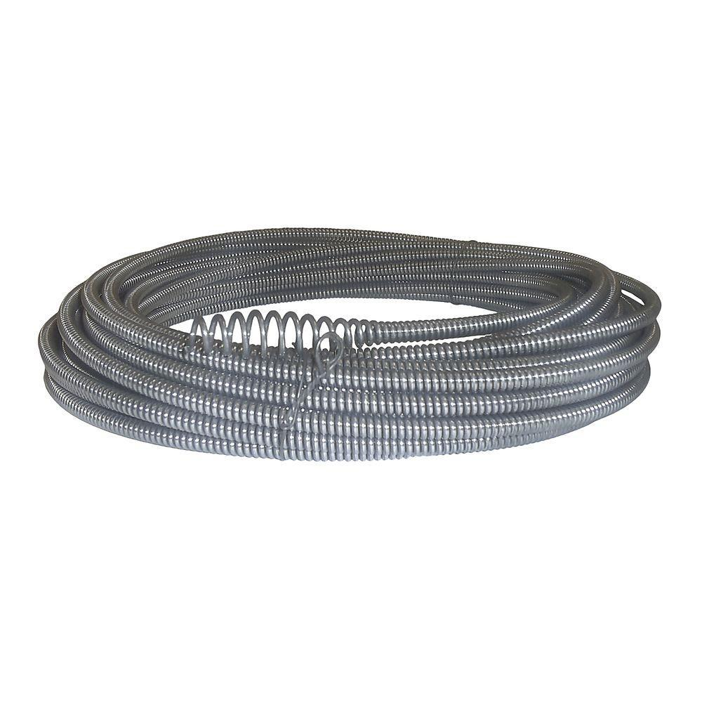 hight resolution of c 21 5 16 in x 50 ft hollow core drain cleaning cable with bulb auger