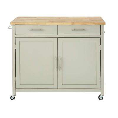 kitchen utility carts pulls and knobs islands tables the home depot glenville grey cart