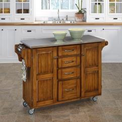 Rolling Kitchen Carts Island With Butcher Block Top Islands Utility Tables The Home Depot Create A Cart Warm Oak Stainless