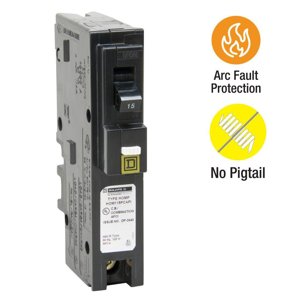 Square D Homeline 15amp Ground Fault Circuit Breaker At Lowescom