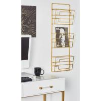 Gold 3-Tier Wall Mounted Magazine Rack-65697 - The Home Depot