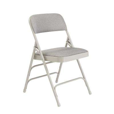 folding chair rental chicago ergonomic uae tables chairs furniture the home depot nps 2300 series grey fabric upholstered triple brace premium