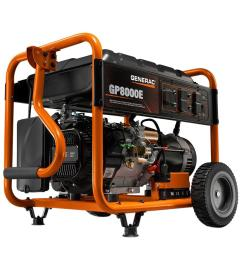 generac 8 000 watt gasoline powered electric start portable generator [ 1000 x 1000 Pixel ]