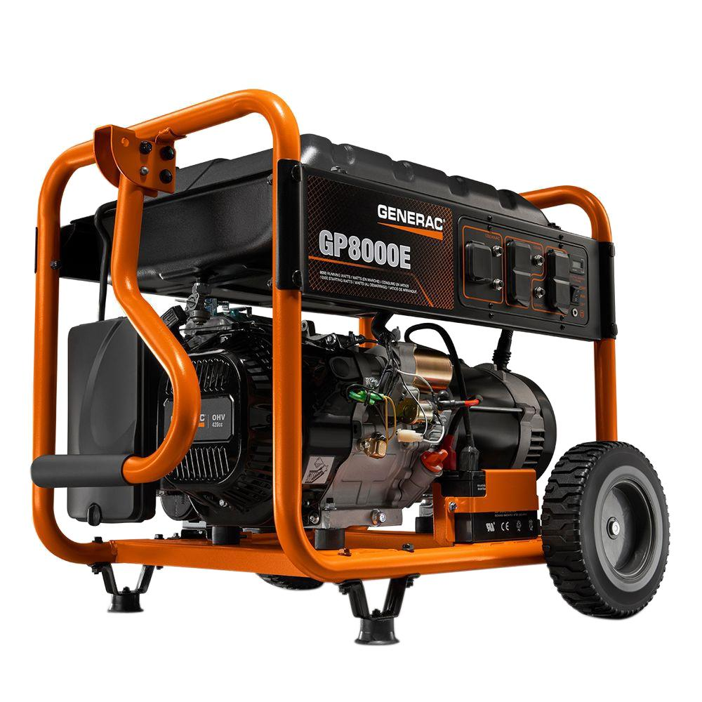 medium resolution of generac 8 000 watt gasoline powered electric start portable generator