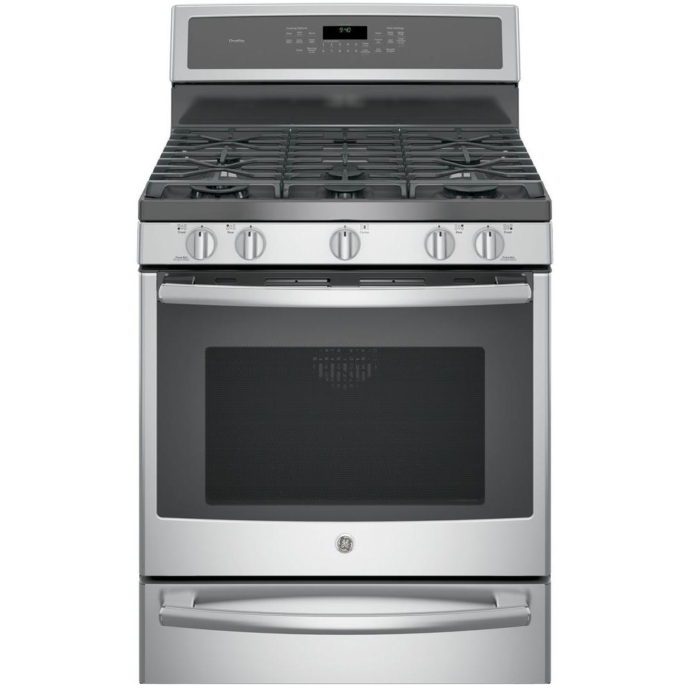 hight resolution of ge profile 30 in 5 6 cu ft smart dual fuel range with self