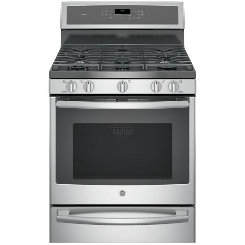 small resolution of ge profile 30 in 5 6 cu ft smart dual fuel range with self
