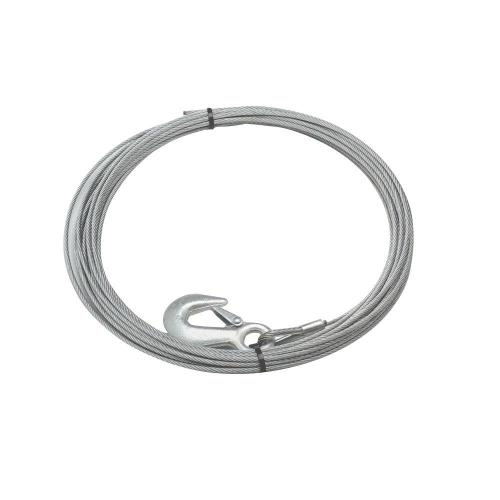 small resolution of 90 ft x 3 8 in galvanized steel wire rope with hook for husky 10 winches