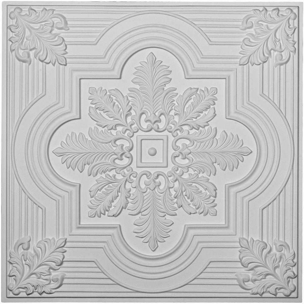 Ekena Millwork Adonis 2 ft. x 2 ft. Glue-up Ceiling Tile