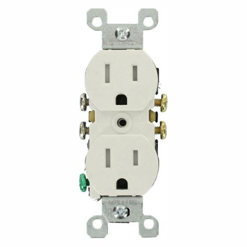 small resolution of leviton 15 amp tamper resistant duplex outlet white 10 pack