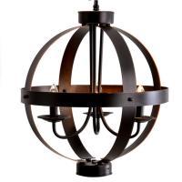 3-Light Bronze Metal Orb Pendant-19866-000 - The Home Depot