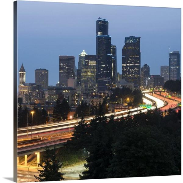square seattle skyline by