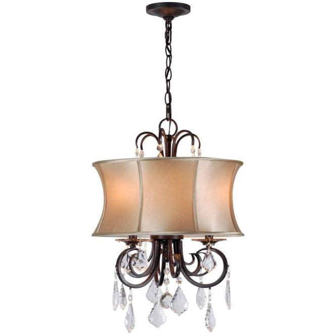 World Imports Annelise 3 Light Bronze Convertible Chandelier Wi885389 The Home Depot