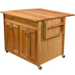 Unfinished Kitchen Cart Ikea Kitchens Cabinets Wood Carts Islands Utility Tables Dining Catskill Natural With Drop Leaf