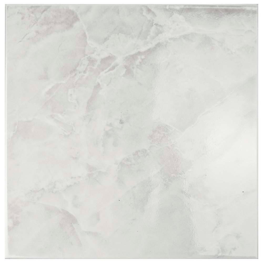 Merola Tile Gamma White 1134 in x 1134 in Ceramic
