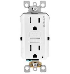 leviton 15 amp 125 volt afci gfci dual function outlet white [ 1000 x 1000 Pixel ]