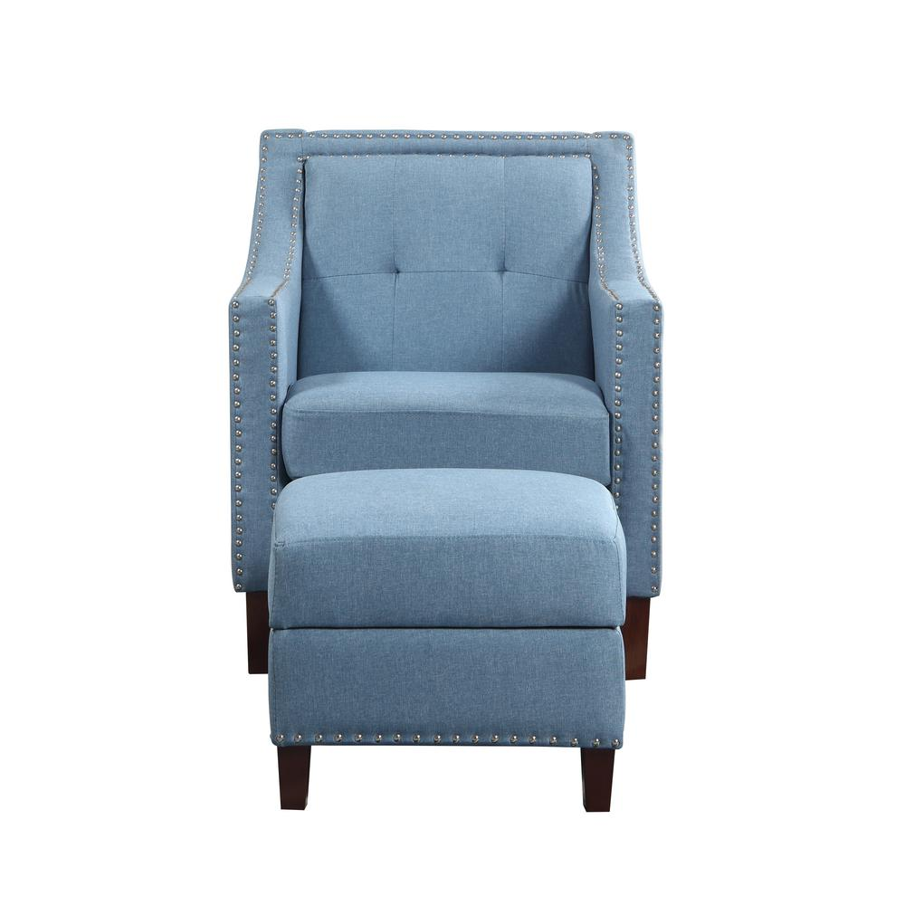 chairs with storage ottoman upholstered lounge chair accent blue 92013 16bl the home depot
