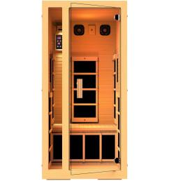 jnh lifestyles joyous 1 person far infrared sauna with 6 carbon fiber heaters easy plug [ 1000 x 1000 Pixel ]