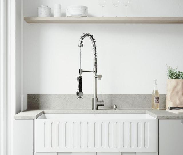 Vigo All In One Farmhouse  Hole Kitchen Sink And