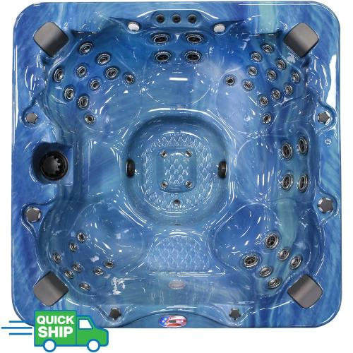 small resolution of american spas 7 person 56 jet premium acrylic bench spa hot tub with bluetooth