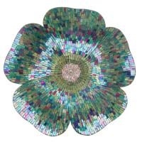 River of Goods Blue Mosaic Glass Flower Wall Decor-13968 ...