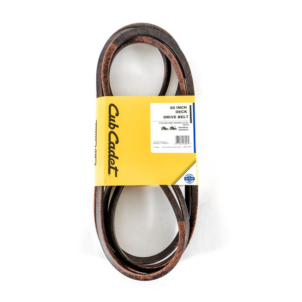 hight resolution of cub cadet 60 in deck drive belt for z force l lx