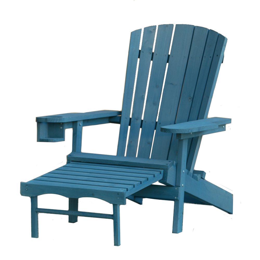 W Unlimited Classic Blue Wood Muskoka Adirondack Chair